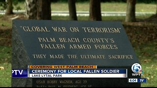 Ceremony for local fallen soldier held in West Palm Beach