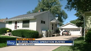 Illegal vaping operation busted at 51st and Howard
