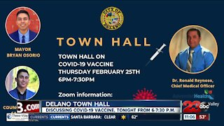 Delano holding virtual town hall tonight to discuss COVID-19 vaccine