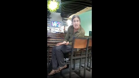 Woman Accuses Man Of Zapping Her With Phone (Coarse language)