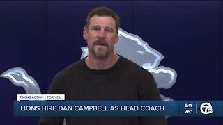 Lions hire Dan Campbell as head coach
