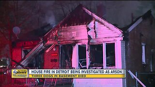 House fire in Detroit being investigated as arson