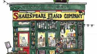 Artist paints iconic Paris bookshop in watercolor