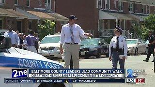 Baltimore County leaders lead community walk