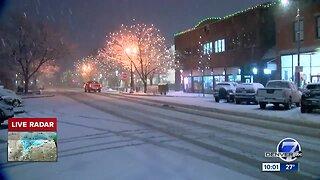Snow arrives to the Denver metro