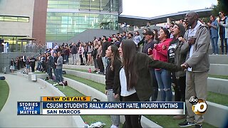 CSUSM students rally against hate, mourn victims