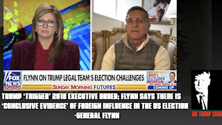 """General Flynn Recommends POTUS """"TRIGGER"""" EXECUTIVE ORDER OF ELECTION FOREIGN INTERFERENCE!"""