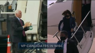 Pence, Harris make campaign stops in Wisconsin