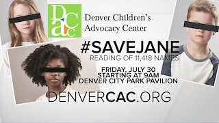 Denver Children's Advocacy Center to raise awareness with Save Jane event