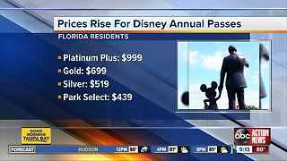 Walt Disney World raises prices for annual passes