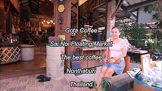 Gota Coffee at Sai Noi Floating market in Nonthaburi, Thailand