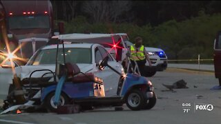 Woman killed in golf cart crash