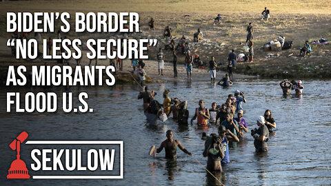 """Biden's Border """"No Less Secure"""" As Migrants Flood U.S."""