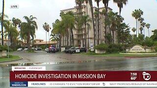 Homicide investigation in Mission Bay