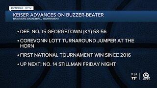 Keiser basketball advances in NAIA tournament