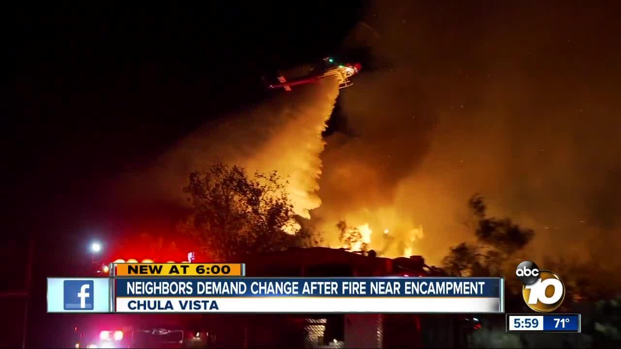 Chula Vista neighbors demand change after encampment fire