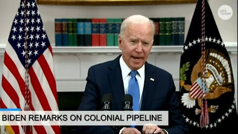 President Joe Biden delivers remarks on the colonial pipeline incident