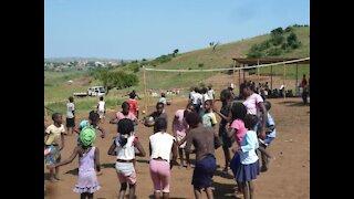African children going to school