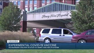Michigan volunteers step forward to receive experimental COVID-19 vaccine