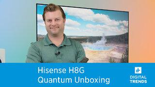 Hisense H8G Quantum TV Unboxing
