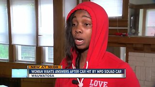 Woman wants answers after car hit by MPD squad car