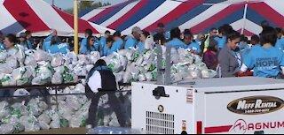 Rescue Mission Las Vegas' annual turkey giveaway