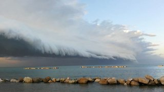Watch: Scary Shelf Cloud Inches Over Italian Coast As Storms Approach