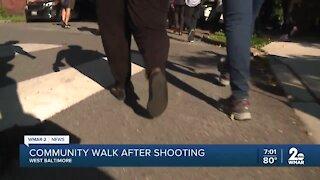 Baltimore leaders hold community walk following violent week