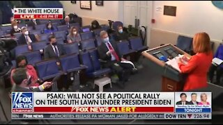 WH Press Sec Tries to Defend a Maskless Biden
