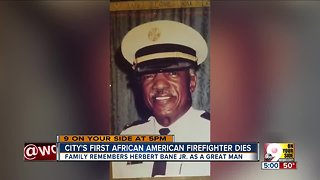 City's first African-American firefighter dies