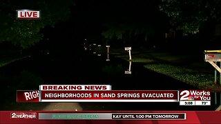 Neighborhoods in Sand Springs evacuated