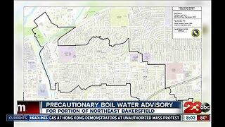 Precautionary water boil advisory in Northeast Bakersfield