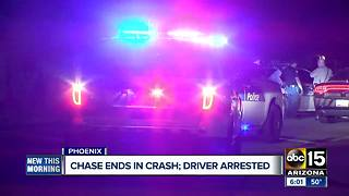 Driver arrested after police pursuit in Phoenix