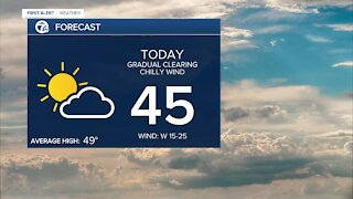 Metro Detroit Forecast: Dry and still breezy