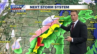 A weekend winter storm is ramping up