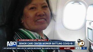 Nursing assistant at senior care center battling coronavirus