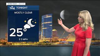 A clear and cool Saturday night ahead