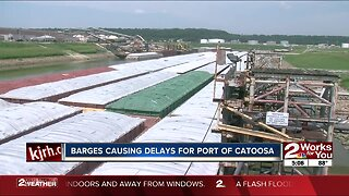 Barges causing delays for Port of Catoosa