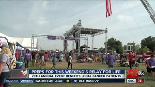 Preps for this weekend for relay for life is underway