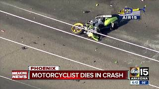 Motorcyclist killed in crash in north Phoenix