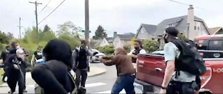 Portland is a WARZONE - Anarchists Hold Man at Gunpoint After He Defends Himself