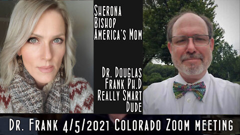 Dr. Douglas Frank talks with Coloradans on a Zoom call April 5, 2021