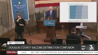 Douglas County vaccine distribution confusion