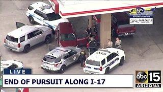 Pursuit suspect taken into custody near I-17 and Thunderbird