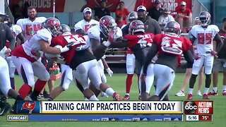 Buccaneers training camp opens with later practice times