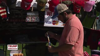 Vendors hope to profit from President Trump's visit to Green Bay