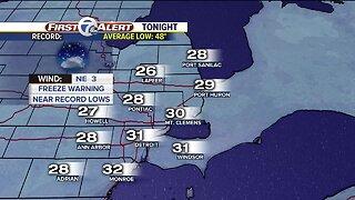 Another freeze warning tonight