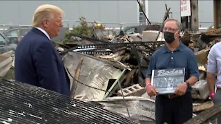 Kenosha business owner declines President Trump photo-op, former owner replaces him