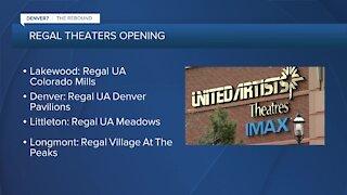 Regal Theatres around Colorado are reopening