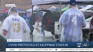 COVID protocols at Kauffman Stadium